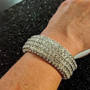 NWT Baublebar silver rhinestone bracelet